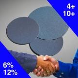 NORTON Blue Mag PSA Discs (pkt 25) 200mm x Blank
