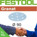 FESTOOL Granat 90mm StickFix Discs Film Back 7H (box)