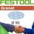 FESTOOL Granat 90mm StickFix Discs Film Back 7H (box)