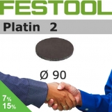 FESTOOL Platin 2 90mm StickFix Discs (box 15)