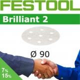 FESTOOL Brilliant 2 90mm StickFix Discs 7H (box)