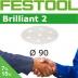 FESTOOL Brilliant 2 90mm StickFix Discs 7H (box)