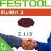 FESTOOL Rubin 2 115mm StickFix Discs (box 50)