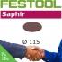 FESTOOL Saphir 115mm StickFix Discs (box 25)