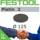 FESTOOL Platin2 125mm StickFix Discs (box 15)