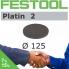 FESTOOL Platin2 125mm StickFix Discs (box 15)