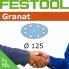 FESTOOL Granat 125mm StickFix Discs 9H Film Back (box 50)