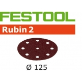 FESTOOL Rubin 2 125mm StickFix Discs 9H (10pkt)