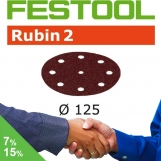 FESTOOL Rubin 2 125mm StickFix Discs 9H (box 50)