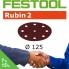 FESTOOL Rubin 2 125mm StickFix Discs 9H (box 50)