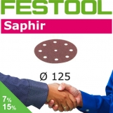 FESTOOL Saphir 125mm StickFix Discs 9H (box 25)