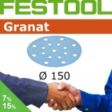 FESTOOL Granat 150mm StickFix Discs 17H Film Back (box 50)