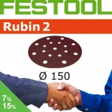 FESTOOL Rubin 2 150mm StickFix Discs 17H (box 50)