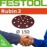 FESTOOL Rubin 2 150mm StickFix Discs 17H (box 50)