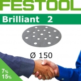 FESTOOL Brilliant 2 150mm StickFix Discs 17H (box)