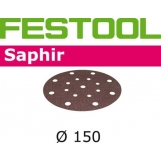 FESTOOL Saphir 150mm StickFix Discs 17H for Heavy Duty (pkt 5)