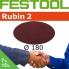 FESTOOL Rubin 2 180mm StickFix Discs for Wood (box 50)