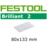 FESTOOL Brilliant 2 80x133mm StickFix Strips 14H (pkt 10)