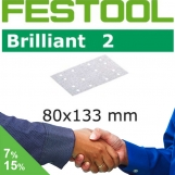 FESTOOL Brilliant 2 80x133mm StickFix Strips 14H (Box)