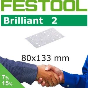 FESTOOL Brilliant 2 80x133mm StickFix Strips 14H (Box)