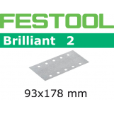 FESTOOL Brilliant 2 93x178mm StickFix Strips 8H (pkt 10)