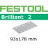 FESTOOL Brilliant 2 93x178mm StickFix Strips 8H (pkt 10)
