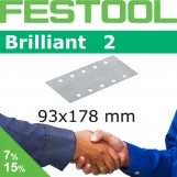 FESTOOL Brilliant 2 93x178mm StickFix Strips 8H (Box)