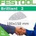 FESTOOL Brilliant 2 100x150mm Delta Stickfix Detail Strips 7H (Box)
