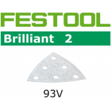 FESTOOL Brilliant 2 93x93mm Deltex V93 Stickfix Detail Strips 6H (pkt 10)
