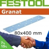 FESTOOL Granat 80x400mm StickFix Strips 17H (box 50)