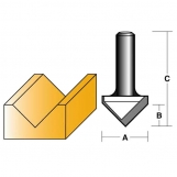 CARBITOOL Groove Forming Bits - 90° VEE GROOVE BITS