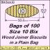 BIX Size 10 Bix Wood Joiner Biscuits Bag of 100