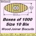BIX Size 10 Bix Wood Joiner Biscuits Box of 1000