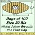 BIX Size 20 Bix Wood Joiner Biscuits Bag of 100