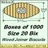 BIX Size 20 Bix Wood Joiner Biscuits Box of 1000