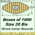 BIX Size 20 Bix Wood Joiner Biscuits Box of 1000