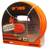 "ROSS AIR PVC Air Hose 3/8""x15m-1/4""Nitto Fittings"