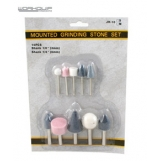 WORKQUIP 10PC GRINDING STONE SET 1/4 SHANK
