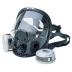 Respirator - North Full Face Mask Black Silicone Twin Filter Mask - M/