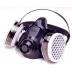 Respirator - North Half Mask Black Silicone Twin Filter M/L