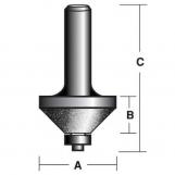 CARBITOOL Diamond Coated EDGE FORMING BITS 45° CHAMFER BIT