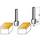 CARBITOOL Combination Flush & 22° Bevel Trimming Bits