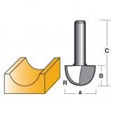 CARBITOOL Edge & Face Forming Bits - CORE BOX BITS