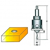 CARBITOOL - Drill / Countersink TCT with Ball Bearing Depth Stop