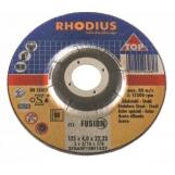 Rhodius 125mm Grinding/Finishing Off Wheel Depressed Centre Inox Metal 80m/s 40 grit