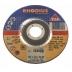 Rhodius 125mm Grinding/Finishing Off Wheel Depressed Centre Inox Metal 80m/s 60 grit