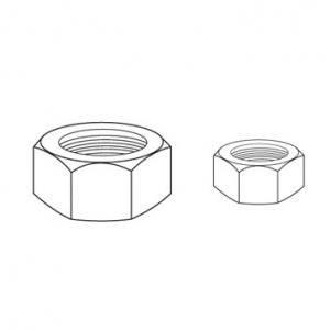 JAMEC PEM Hexagon Nuts - 650 Piece