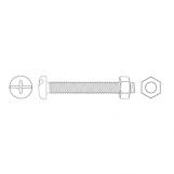 JAMEC PEM Machine Screws & Hexagon Nuts - 575 Piece
