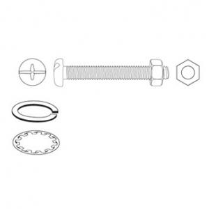 JAMEC PEM Machine Screws, Nuts & Washers - 2825 Piece