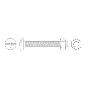 JAMEC PEM Machine Screws & Hexagon Nuts - 248 Piece